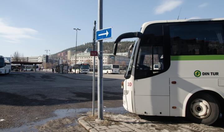 Busstationen i dag.