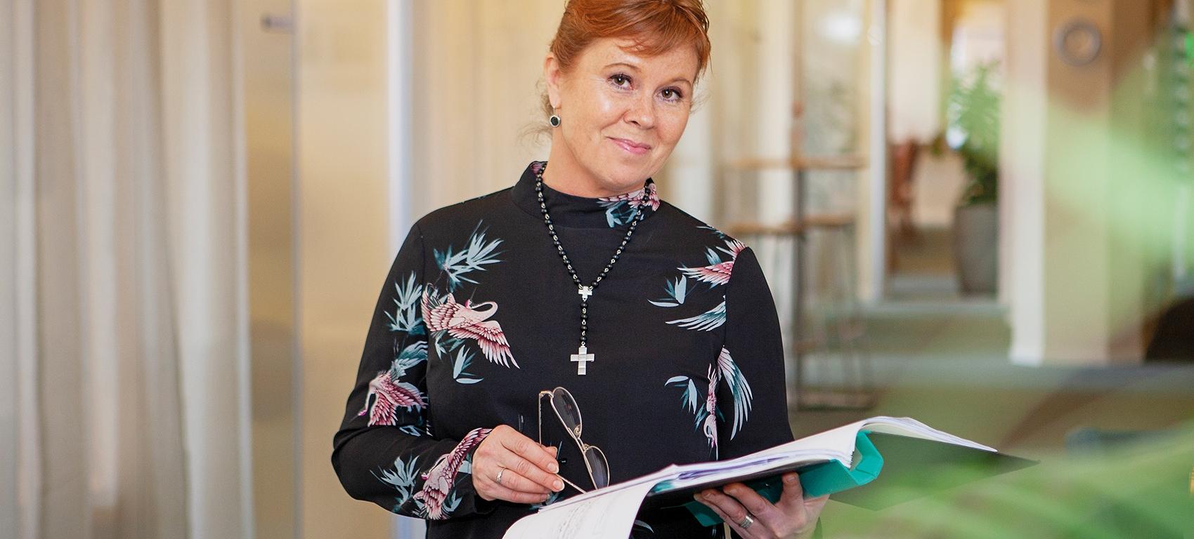 – I ett längre tidsperspektiv ser vi stora vinster med att tänka och bygga hållbart, säger Madeleine Bergvik på Sundsvall Logistikpark som jobbar för en kommande hållbarhetscertifiering.